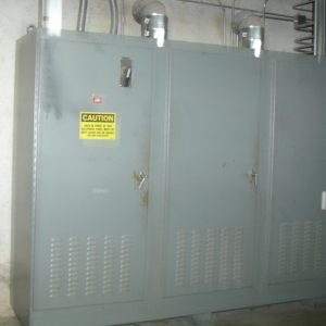 Electrical control cabinet from urethane coating line. WS1756