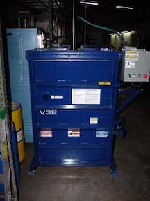New C+M V32 vertical baler. WS1946