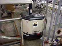 SOLD. Crown electric pallet jack with charger. Model PW3520-60. WS2026
