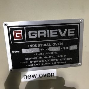 Grieve Industrial Oven, Model NTR-1000. WS2277