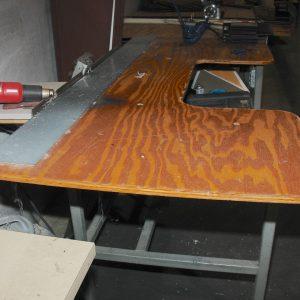 Single head B&J beveler with table. WS2278