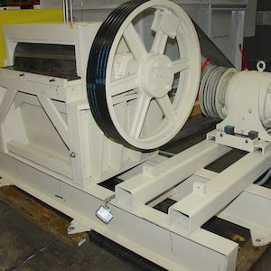 SOLD. 4 blade, 50 HP trim chopper with in-feed and out-feed conveyors. WS2294
