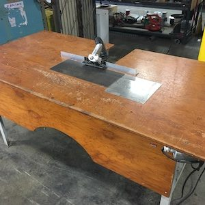 Single head B&J beveling table with vacuum. WS2296