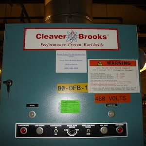 Cleaver Brooks 80 HP Boiler. Model CB 70 OX-70
