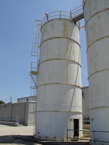 Pellet silos. 14ft X 40ft