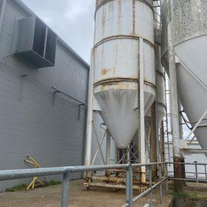 Carbon steel cone bottom silos. WS2323