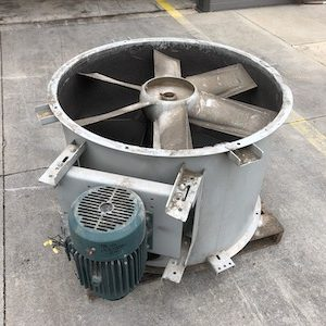 Greenheck tube axial in-line exhaust fans. Model TBI-FS-3L42-100-X. WS2391