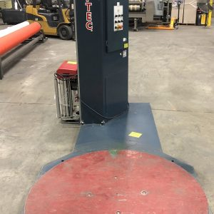 SOLD. Wulftec semi-automatic, low profile stretch wrapper Model WSML-150-B.WS2459