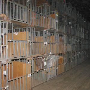 Steel yarn storage cages. WS2478