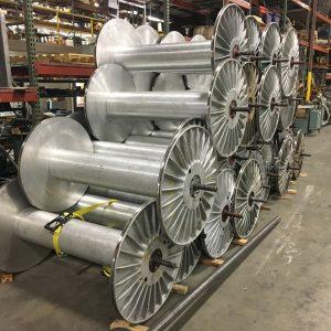 36 inch x 54.25 inch aluminum warper beams. WS2310