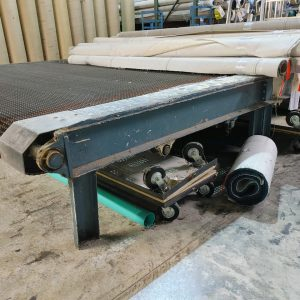 Wire belt staging table.  15 ft wide X 14 ft long.  WS2512