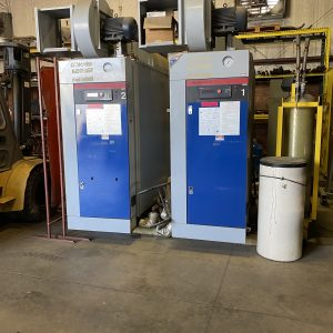 Two Miura 100 HP natural gas boilers, Model LX-100. WS2531